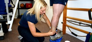 effective physio on ankle sports injury